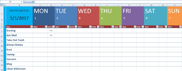 excel spreadsheet download download cleaning schedule template xls free excel