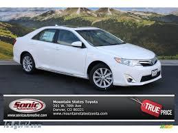 2014 Toyota Camry Hybrid XLE in Super White - 098548 | leHybrid ...