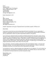 Bunch Ideas Of Entry Level Event Management Cover Letter Great Event