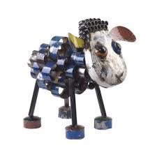 sid the sheep recycled metal garden ornament small