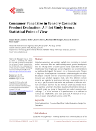 sensory cosmetic evaluation