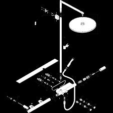 AXOR ShowerSolutions Showerpipe с термостатом 800 и верхним ...