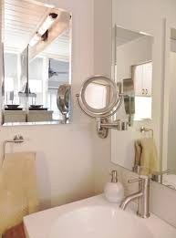 marvelous lighted magnifying mirror in modern other metro with lighted mirror next to rustic wood countertop