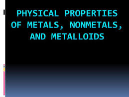 Metals Vs Nonmetals Venn Diagram Ppt Physical Properties Of Metals Nonmetals And