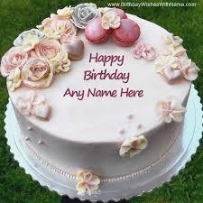 Happy Birthday Cake Name Edit Best Wishes Amazingbirthdaycakescf