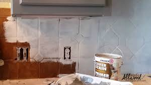 To Paint A Kitchen How To Paint Kitchen Tile And Grout An Easy Kitchen Update