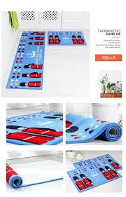 Non Slip Kitchen Floor Mats Printing Absorbent Non Slip Bathroom Carpet Hallway Floor Door