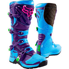 Fox Riding Boots Size Chart Fox 2016 Le Comp 5 Blue Purple Boots Dirt Bike Gear Dirt
