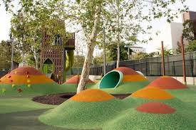 Playground Design Grand Parks New Playground Is Cartoony And Awesome