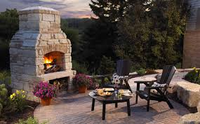 Charming Ideas Patio Fireplace Kits Picturesque Anchor Block ...