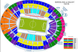 The Rose Seating Chart Pasadena International Champions Cup Fc Barcelona Vs La Galaxy