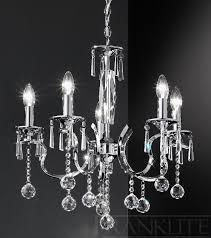 taffeta 5 light crystal chandelier franklite lighting