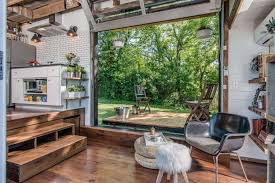 tiny house furniture. Inside A Tiny House With Pop-Out Deck - Alpha Home By New Frontier Homes Furniture ,