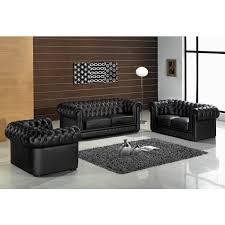 paris 1 contemporary black leather