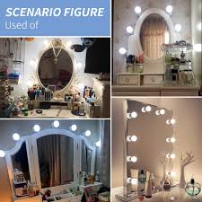 Us 6 98 39 Off Led Makeup Mirror Light Led Vanity Light 6 10 14 Light Bulbs Kit 16w Hollywood Wall Lamp Decoration For Bedroom Dressing Table In