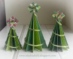 Aly Dosdall: paper christmas tree set