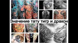значение тату тигр и дракон смысл рисунка и фото примеры для сайта Tattoo Photoru