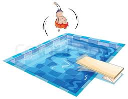 A boy and swimming pool Stock Vector Colourbox