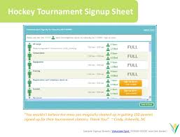 Tournament Sign Up Sheets Online Sign Up Sheets For Youth Sports