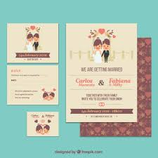 Free Downloadable Wedding Invitation Templates Cute wedding invitation template Vector Free Download 54