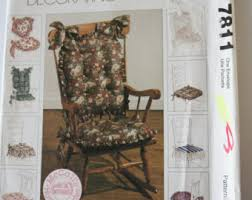 dining chair cushion sewing patterns. chair cushion patterns, sewing uncut mccalls 7811 /764 make pillows for rocking dining chair patterns d