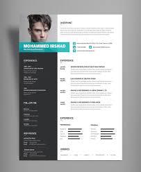 Cvresume Template Design Tutorial With Photoshop Free Psddocs