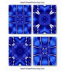 royal blue and white wall art