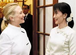 Image result for 美國國務卿希拉蕊高調訪問緬甸