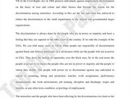 essay about racism racial discrimination essay example racial discrimination essay example essays