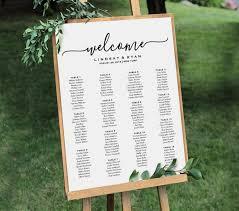 Welcome Wedding Seating Chart Sign Printable Seating Plan