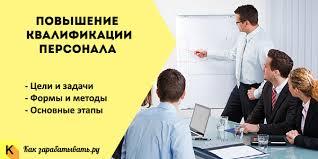 Повышение квалификации персонала формы методы и системы Повышение квалификации персонала цели и задачи формы и методы обучения и подготовки
