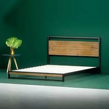Bed Frame Low Profile Wooden Platform Bed Frame Low Profile Wood ...