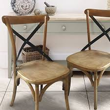 joveco vine style solid wood dining chair set of 2