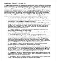 behavior intervention plan template behavior intervention plan template 4 free word pdf documents