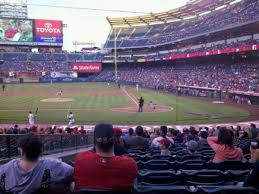 Angel Stadium Section F114 Home Of Los Angeles Angels Of