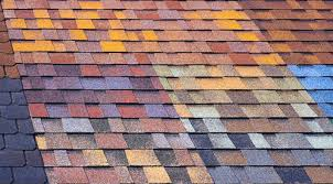 view larger image close up view of multicolored asphalt roof shingles