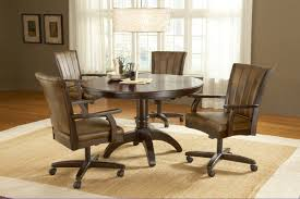 leather dining chairs with casters. Alluring Leather Dining Chairs With Casters Table On Best Caster Room E