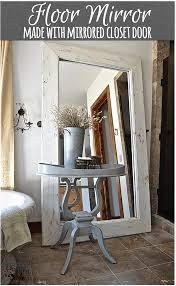 floor mirror in white floormirror diy s countrydesignstyle com