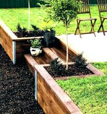 landscape retaining wall ideas patio timber front yard landscaping designs w