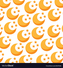 Moon Pattern Enchanting Cute Moon Pattern Background Royalty Free Vector Image