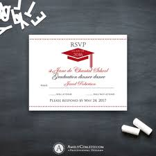 Party Rsvp Template Graduation Rsvp Card Printable Template Red High School