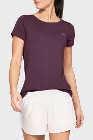 Женская фиолетовая <b>футболка UA HG Armour</b> SS-PPL Under ...
