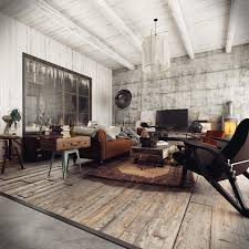 Industrial Living Room The Living Room Of A Rustic Home With An Industrial Flavour 1240