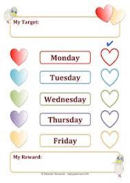 5 Day Reward Chart Heart Reward Systems