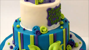 Blue Birthday Cake Designs Birthday Cake Design In Blue And Green