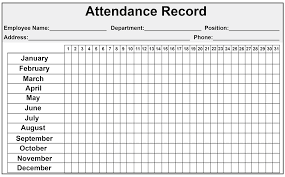Excel Employee Attendance Sheet 2019 Catchy Printable