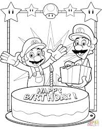 Coloring Pages Mario Brothers Coloring Pagesper Bros Free Super