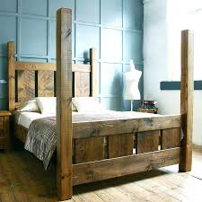Bedroom Ideas Handmade Solid Wood Rustic Chunky Slatted Four