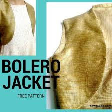 Bolero Jacket Pattern Impressive Free Bolero Sewing Pattern AllFreeSewing