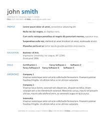 Resume Template Free Resume Samples